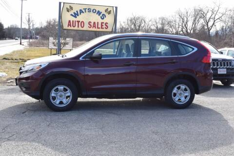 2015 Honda CR-V for sale at Watson Automotive in Sheffield MA