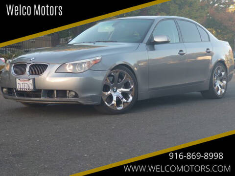2007 BMW 5 Series for sale at Welco Motors in Rancho Cordova CA