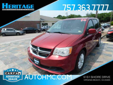 2014 Dodge Grand Caravan for sale at Heritage Motor Company in Virginia Beach VA