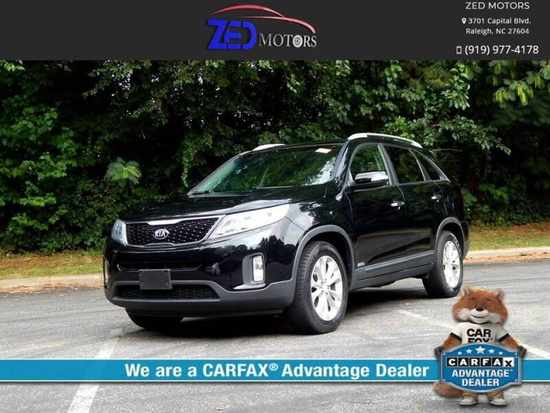 2014 Kia Sorento for sale at Zed Motors in Raleigh NC