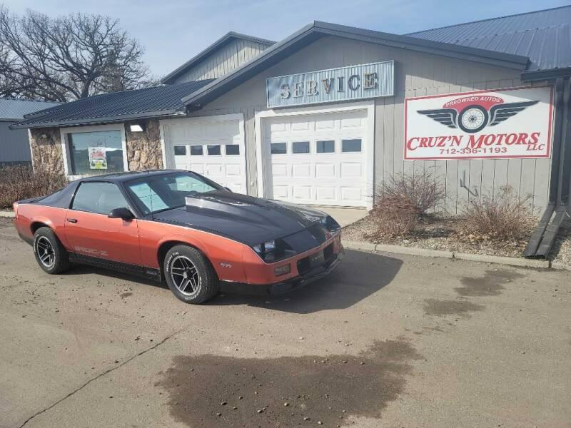 1988 Chevrolet Camaro for sale at CRUZ'N MOTORS - Classics in Spirit Lake IA