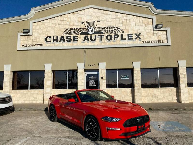 2018 Ford Mustang for sale at CHASE AUTOPLEX in Lancaster TX