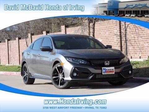 2021 Honda Civic for sale at DAVID McDAVID HONDA OF IRVING in Irving TX
