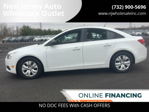 2013 Chevrolet Cruze for sale at New Jersey Auto Wholesale Outlet in Union Beach NJ