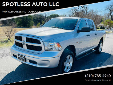 2014 RAM Ram Pickup 1500 for sale at SPOTLESS AUTO LLC in San Antonio TX
