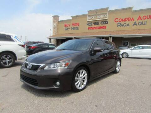 2013 Lexus CT 200h for sale at Import Motors in Bethany OK