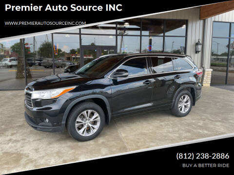 2014 Toyota Highlander for sale at Premier Auto Source INC in Terre Haute IN