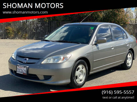 2005 Honda Civic for sale at SHOMAN AUTO GROUP in Davis CA