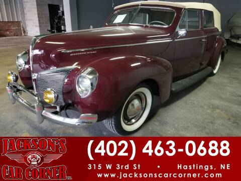 1940 Mercury 09A 4 Door Convertible Sedan for sale at Jacksons Car Corner Inc in Hastings NE