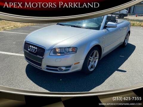 2008 Audi A4 for sale at Apex Motors Parkland in Tacoma WA