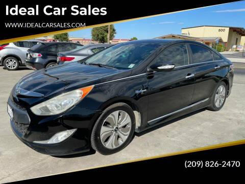 2013 Hyundai Sonata Hybrid for sale at Ideal Car Sales in Los Banos CA