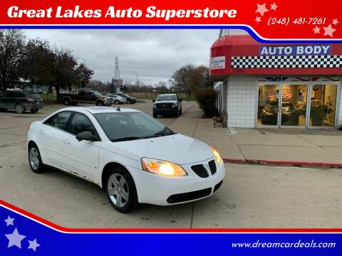2009 Pontiac G6 for sale at Great Lakes Auto Superstore in Waterford Township MI