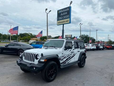 2020 Jeep Wrangler Unlimited for sale at Michaels Autos in Orlando FL