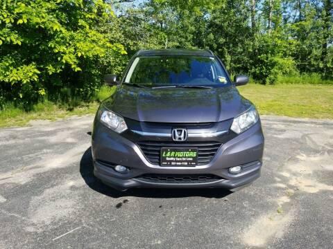 2016 Honda HR-V for sale at L & R Motors in Greene ME