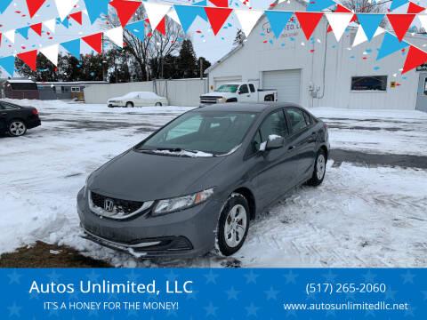2013 Honda Civic for sale at Autos Unlimited, LLC in Adrian MI