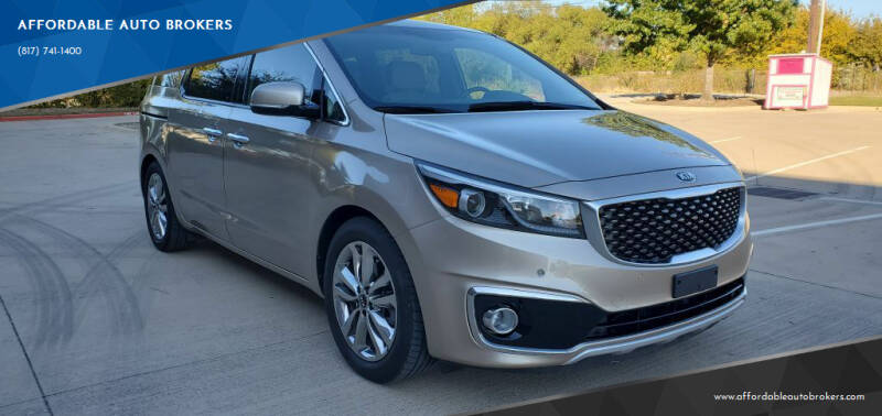 2015 Kia Sedona for sale at AFFORDABLE AUTO BROKERS in Keller TX