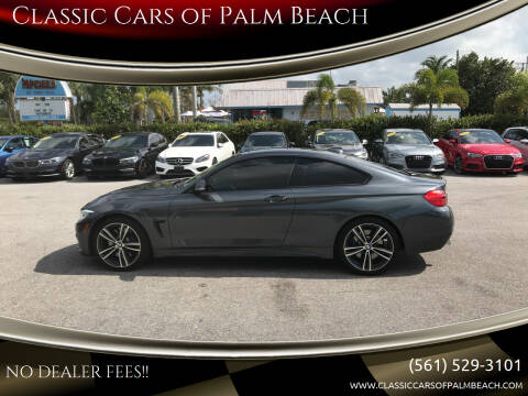 2016 BMW 4 Series for sale at Classic Cars of Palm Beach in Jupiter FL