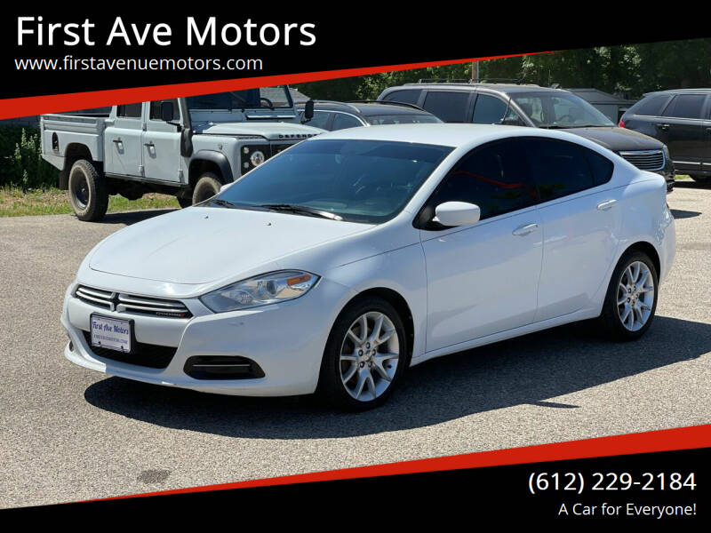 2013 Dodge Dart for sale at First Ave Motors in Shakopee MN