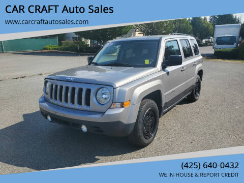 2016 Jeep Patriot for sale at Car Craft Auto Sales Inc in Lynnwood WA