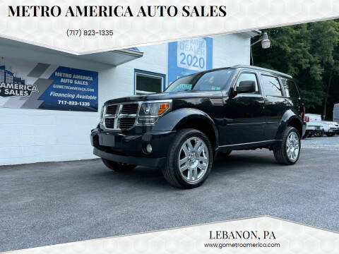 2008 Dodge Nitro for sale at METRO AMERICA AUTO SALES of Lebanon in Lebanon PA