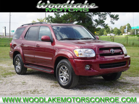 2007 Toyota Sequoia for sale at WOODLAKE MOTORS in Conroe TX