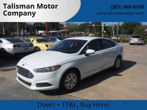 2014 Ford Fusion for sale at Talisman Motor Company in Houston TX