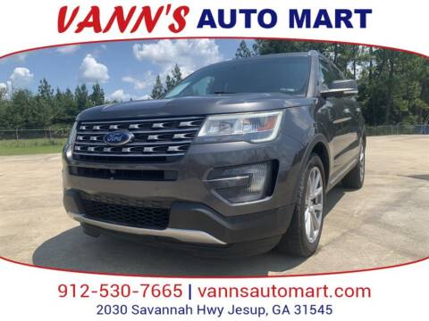 2016 Ford Explorer for sale at VANN'S AUTO MART in Jesup GA