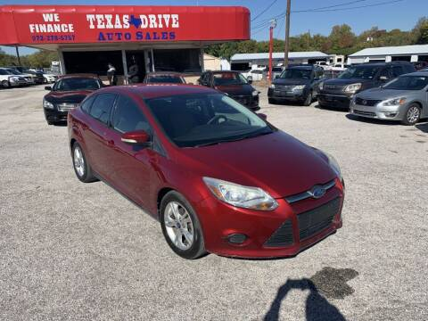 2014 Ford Focus for sale at Texas Drive LLC in Garland TX