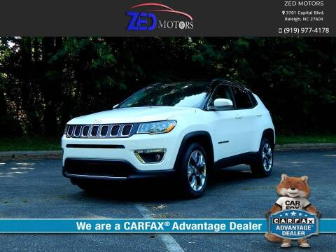 2018 Jeep Compass for sale at Zed Motors in Raleigh NC