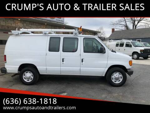 2006 Ford E-Series Cargo for sale at CRUMP'S AUTO & TRAILER SALES in Crystal City MO