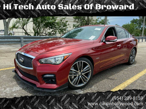 2014 Infiniti Q50 Hybrid for sale at Hi Tech Auto Sales Of Broward in Hollywood FL