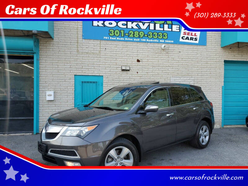 2010 Acura MDX for sale at Cars Of Rockville in Rockville MD