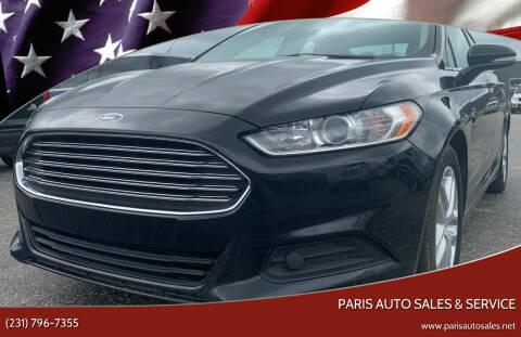 2016 Ford Fusion for sale at Paris Auto Sales & Service in Big Rapids MI