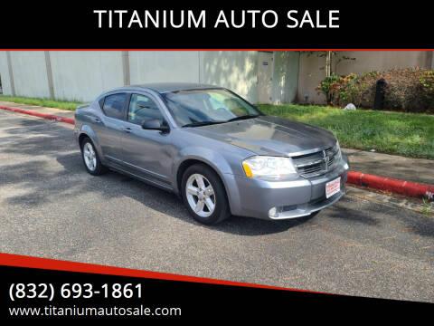 2010 Dodge Avenger for sale at TITANIUM AUTO SALE in Houston TX