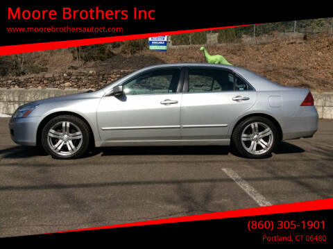 2006 Honda Accord for sale at Moore Brothers Inc in Portland CT