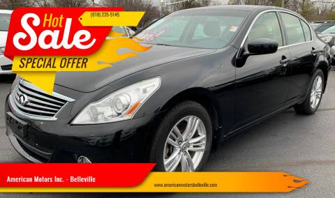 2013 Infiniti G37 Sedan for sale at American Motors Inc. - Belleville in Belleville IL