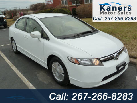 2007 Honda Civic for sale at Kaners Motor Sales in Huntingdon Valley PA