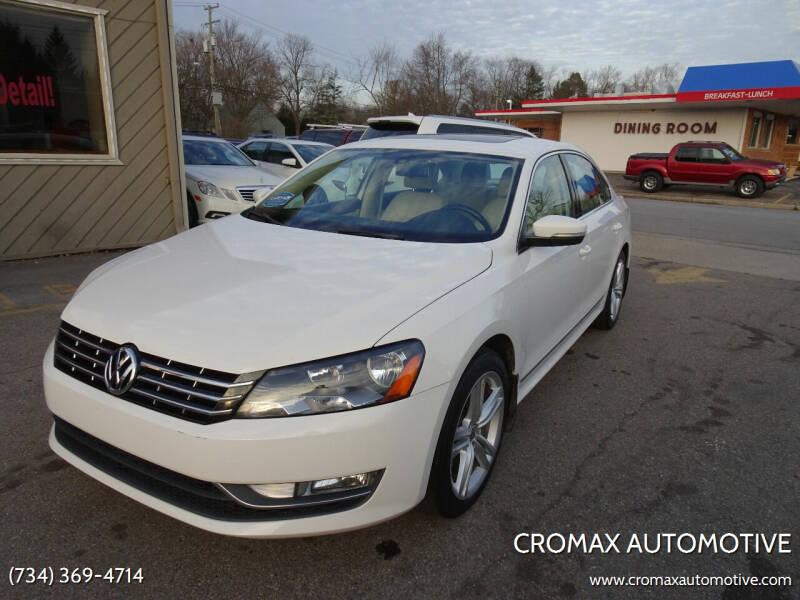 2014 Volkswagen Passat for sale at Cromax Automotive in Ann Arbor MI