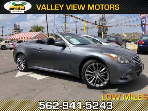 2011 Infiniti G37 Convertible for sale at Valley View Motors in Whittier CA