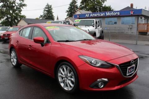 2014 Mazda MAZDA3 for sale at All American Motors in Tacoma WA