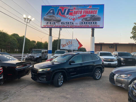 2019 Jeep Cherokee for sale at ANF AUTO FINANCE in Houston TX