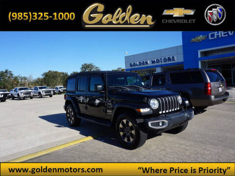 2018 Jeep Wrangler Unlimited for sale at GOLDEN MOTORS in Cut Off LA