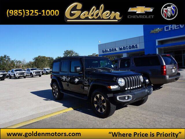 2018 Jeep Wrangler Unlimited for sale at GOLDEN MOTORS in Cut Off LA