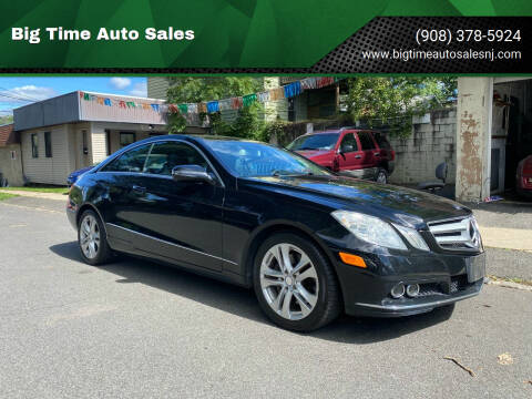 2010 Mercedes-Benz E-Class for sale at Big Time Auto Sales in Vauxhall NJ