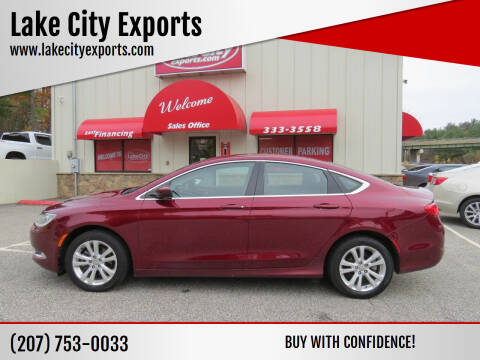 2015 Chrysler 200 for sale at Lake City Exports in Auburn ME