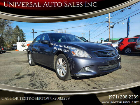 2010 Infiniti G37 Sedan for sale at Universal Auto Sales Inc in Salem OR