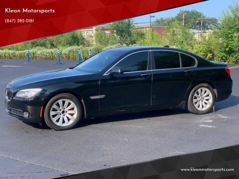 2009 BMW 7 Series for sale at Klean Motorsports in Skokie IL