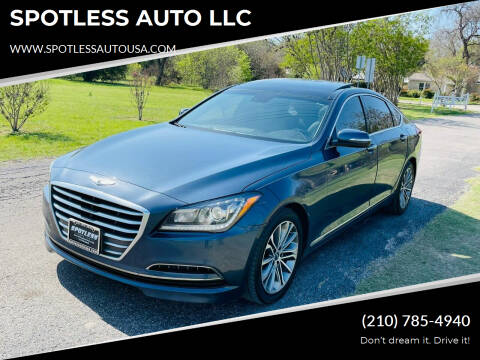 2015 Hyundai Genesis for sale at SPOTLESS AUTO LLC in San Antonio TX