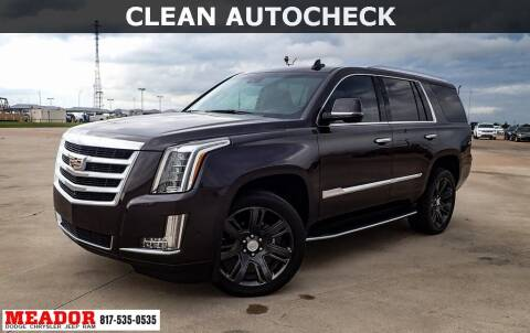 2017 Cadillac Escalade for sale at Meador Dodge Chrysler Jeep RAM in Fort Worth TX