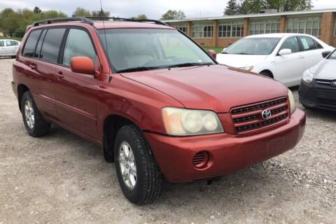 2003 Toyota Highlander for sale at WEINLE MOTORSPORTS in Cleves OH